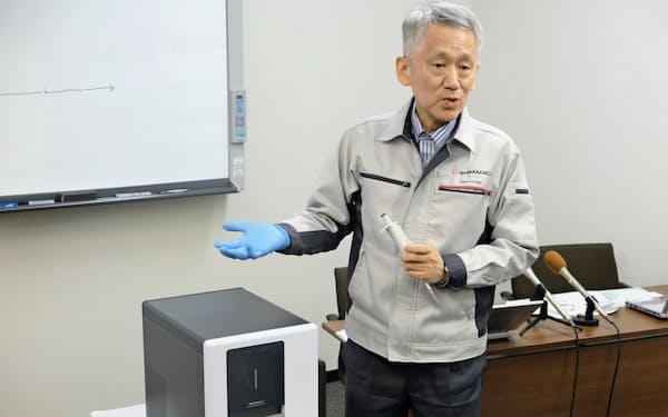 「医療現場でますます使いやすくなる」と語る田中氏(28日、京都市)