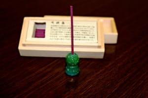 山月工房(大阪府和泉市)が発売した古墳型のお香立て「時越香」(ときおいのかおり)