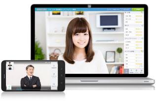 ウェブ面接ソフトの画面上で候補者を評価できる