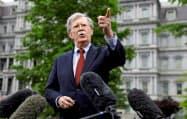 ボルトン氏はイランへの圧力を継続する考えを示した=ロイター