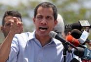 ベネズエラのグアイド国会議長(18日、カラカス)=ロイター
