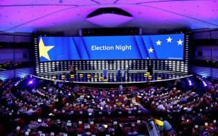 今回の欧州議会選挙では既存政党の落日が鮮明に=ロイター