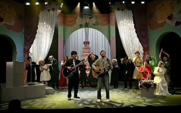 わかぎゑふらが展開する人情喜劇シリーズ「大阪芝居」2008年に上演した「ウェディング編」