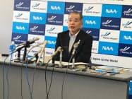 7年間の社長職を振り返る夏目誠社長(成田空港)