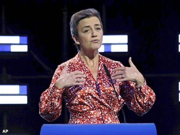 欧州委員長候補のデンマーク人女性、ベステアー氏=AP