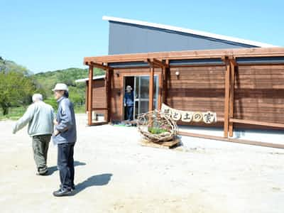 飯舘村に完成した農村体験宿泊施設「風と土の家」(福島県飯舘村佐須)