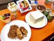 豆腐フェアでは各店が工夫を凝らした商品を扱う