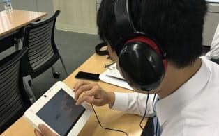 英語民間試験の一つであるGTECはタブレット端末を使う