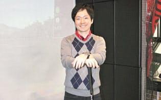 南田陽平プロはヘッドスピード向上のキーワードとして「クラブの性能を最大限に引き出す」ことと「床反力の活用」を挙げる