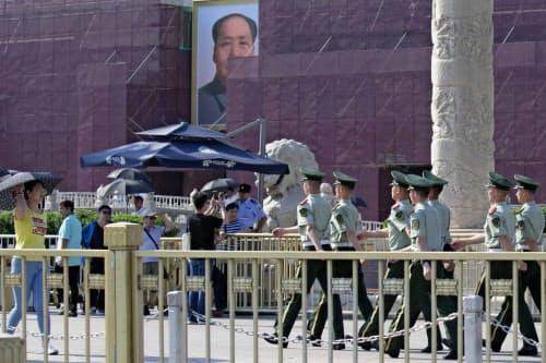 天安門事件から30年で、中国当局は警戒を強めている=AP