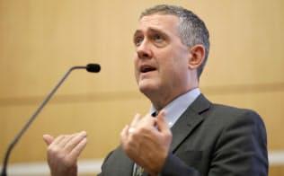 セントルイス連銀のブラード総裁は金融引き締めに慎重な「ハト派」として知られる=ロイター