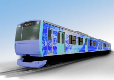 JR東日本は、水素を燃料に動く試験車両を開発する