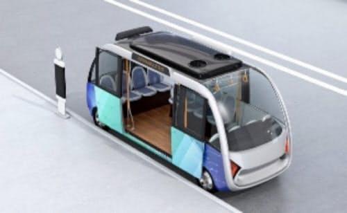 自動運転バスの乗り降り時のイメージ図(図虫提供)