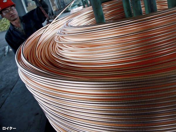 中国は世界の5割を占める最大の銅消費国だ(江蘇省の工場)=ロイター