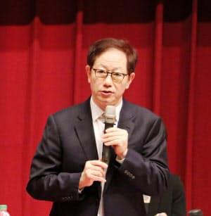 TSMCの劉徳音董事長(5日、新竹市内での株主総会)