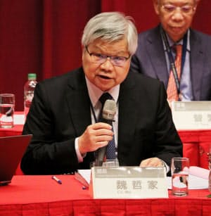 TSMCの魏哲家CEO(5日、新竹市内での株主総会)