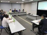茨城県が開いたLGBTへの支援策を検討する勉強会(5日、水戸市の茨城県庁)