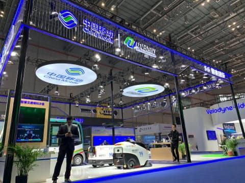 中国移動は9月末までに40都市以上で5Gのサービスを提供する(4月、上海市)