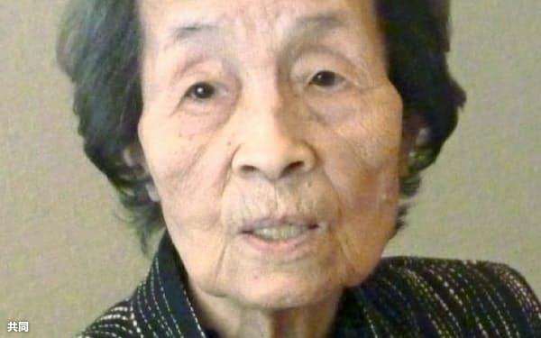 戦前戦後の映画史を生き抜いた映画編集者、岸富美子さん=共同