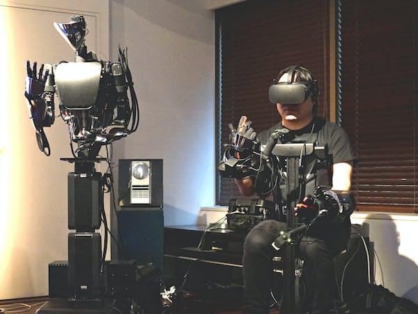 メルティンはロボットの遠隔操作技術を開発する新興企業。人間が発する電気信号を読みとる技術を持つ
