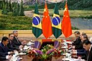 ブラジルのモウラン副大統領は中国を訪問したばかり(5月23日、北京)=ロイター
