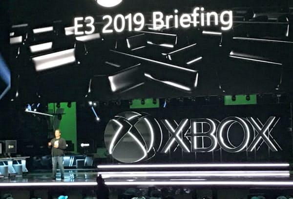 マイクロソフトはゲーム事業の発表会を開いた(9日、米ロサンゼルス)