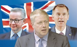 英保守党の党首選では、EU離脱を巡り議会をどうまとめるかが焦点になる(コラージュ、写真はロイター)