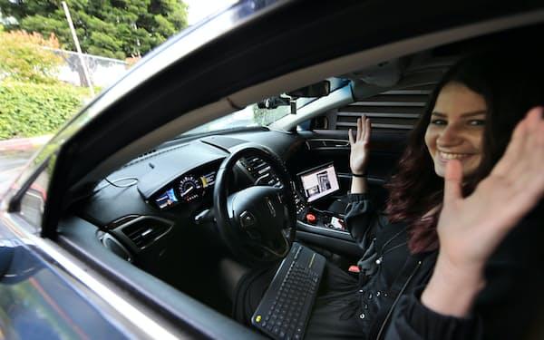 ユダシティーが教育用に開発した自動運転車