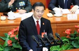最高人民法院の周強院長は今年3月の全人代で、中国共産党が裁判所の判断より上位の権限を持つと強調した(写真は2016年)