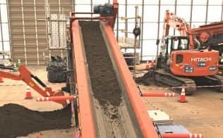 除染土を放射能濃度で分別する装置