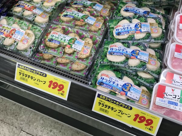サラダチキンの特売が増えている