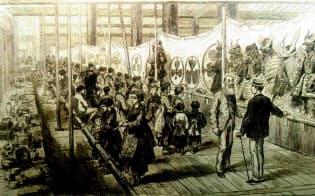 1872年の博覧会には欧米のメディアの通信員も訪れ絵付きで報道した=尼崎市教育委員会提供