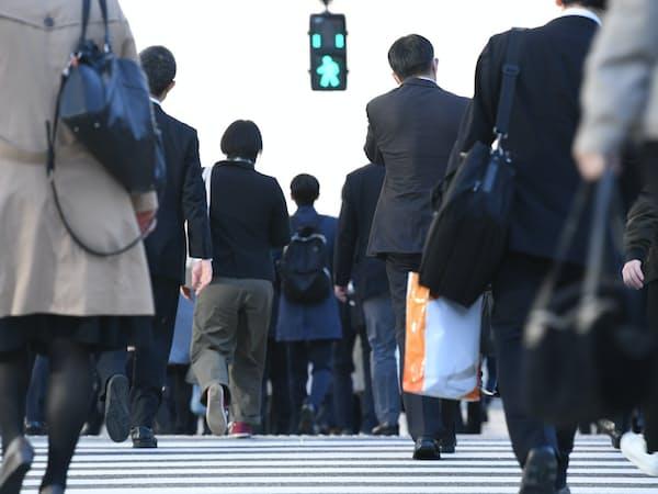 通勤する人たち(東京都内)