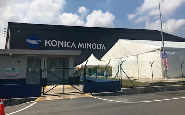 コニカミノルタが地元企業などと入居する新工業団地(10日、マラッカ州)
