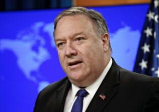 ポンペオ米国務長官はイランとの対話に応じる可能性を排除していない(10日、ワシントン)=AP