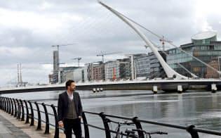 アイルランドは英国のEU離脱をめぐる不透明さの恩恵を受けている(ダブリンの金融センター)=ロイター