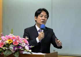 対中強硬姿勢の強い、民進党の頼清徳・前行政院長(4月、台北市内)