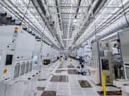 米マイクロンが広島工場に設けた新棟のクリーンルーム(広島県東広島市)