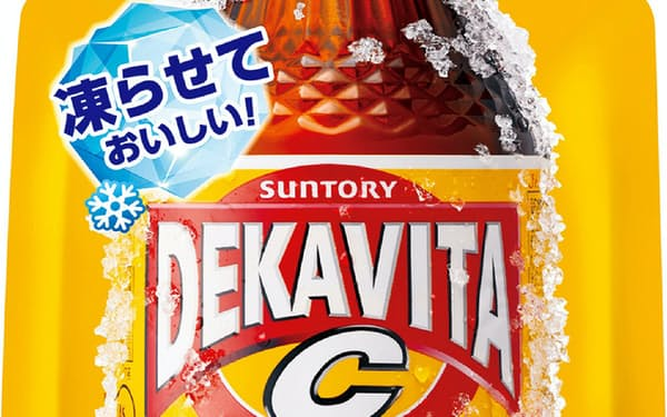 サントリー食品インターナショナルが発売する「デカビタC フローズンエナジー」