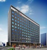 新ホテルの完成予想図