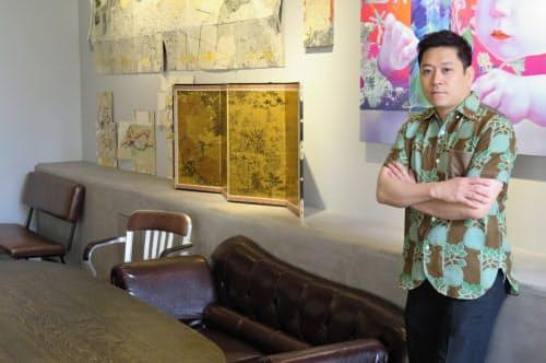 学生時代にラグビーに親しんだ名和晃平氏(同氏がプロデュースしたスターバックスコーヒー 京都BAL店)