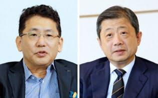 LIXILグループの瀬戸欣哉前CEO(写真左)と潮田洋一郎会長兼CEO