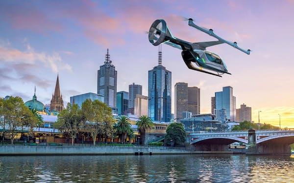 ウーバーは豪メルボルンでも空飛ぶタクシーのサービスを始める構想を発表した(写真はイメージ)