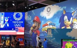 セガゲームスは東京五輪を題材にしたゲームを大々的に紹介した(11日、ロサンゼルス)