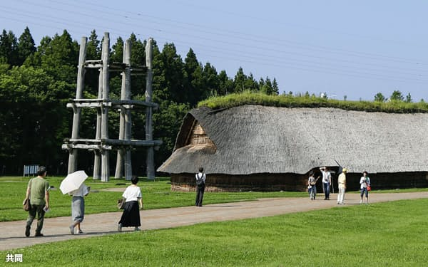 青森市の三内丸山遺跡(2018年7月)=共同
