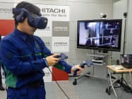 VR技術を使いエレベーターの保守作業の習熟を狙う。