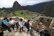 ペルーの世界遺産「マチュピチュ」には世界から多くの観光客が訪れる=AP