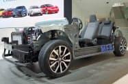 VWは自社での電池確保にも動き出した(写真はVWのEV専用車台)