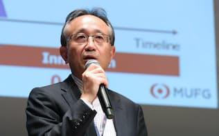 Fin/Sum(フィンサム)ウイーク2017に出席した三菱UFJフィナンシャル・グループの亀沢宏規執行役常務(2017年)