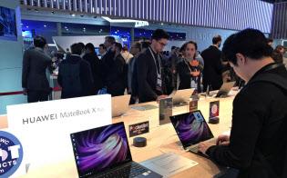 ファーウェイは2016年からノートパソコンの販売を始めた(2月、スペインでの展示)